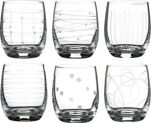 Набор стаканов из 6 шт. КЛАБ МИКС 300 МЛ ВЫСОТА=10 СМ (КОР=8Набор.) - Crystalex