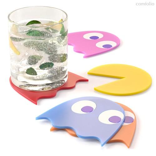 Подставка под стаканы Pac-Man 5шт., цвет разноцветный - Balvi