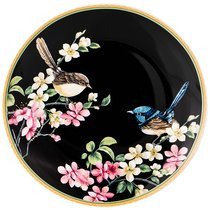 Тарелка Закусочная Цветущий Сад 20 см Черная - Meizhou Yuesenyuan