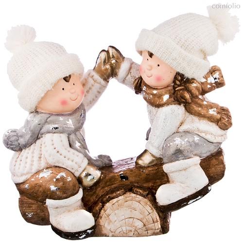Фигурка 44*24,5*39 см Серия Детишки В Снегу Без Упаковки - Chaozhou Fountains & Statues