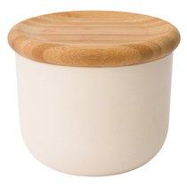 Емкость для хранения сыпучих продуктов с крышкой 12*10см, цвет бежевый - BergHOFF