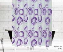 Шторы Evdy Drop для ванной, цвет фиолетовый, 180x200 - Beytug textile