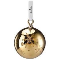 """Украшение новогоднее, шар малый """"Снежинки"""" (золотое) - Rosenthal"""