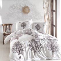 Постельное белье Ranforce Tree, цвет коричневый, 1.5-спальный - Altinbasak Tekstil
