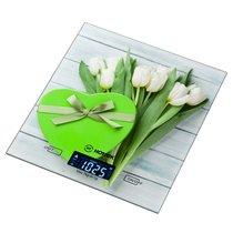 Весы Кухонные Белые Тюльпаны Hottek Ht-962-024 18X20 см МаксВес 7 Кг - Keyon