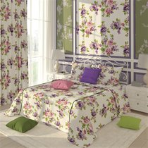 """Штора с рисунком """"Лиловое соцветие"""", 180х270 см, P708-8939/1, цвет розовый - Altali"""
