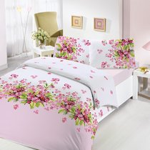 Постельное белье Ranforce Sumbul, цвет розовый, размер Евро - Altinbasak Tekstil