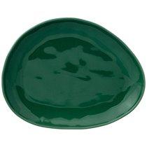 Тарелка Обеденная Meadow 29x23 см Зеленая 3 шт., цвет зеленый, 29 см - Сhaoan Jiabao Porcelain