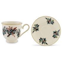 """Чашка чайная с блюдцем 180мл """"Кардинал"""" - Lenox"""