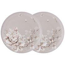 Набор Из 2 Тарелок Обеденных Lefard White Flower 25,5 см Серый - Jinding