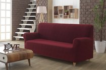 "Чехол для дивана ""KARNA"" трехместный ROMA, цвет бордовый - Bilge Tekstil"