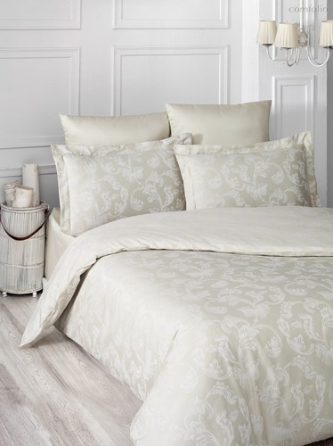 Постельное белье Karna Ariel, цвет бежевый, размер Евро - Karna (Bilge Tekstil)
