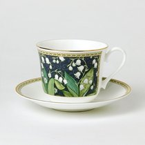 Чайная пара для завтрака Ландыши 500мл - Roy Kirkham