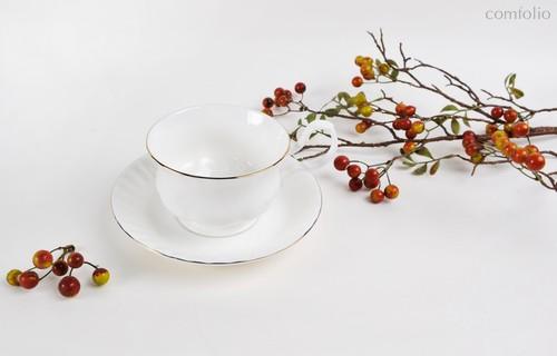 Чайная пара для завтрака Золотой берег 400 мл - Top Art Studio