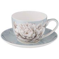 Чайная Пара Lefard White Flower 2Пр. 330 мл Голубая - Jinding