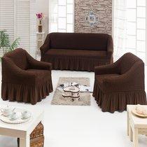 Чехол д/мягкой мебели 3-х пр.(3+1+1) JUANNA, цвет шоколадный - Meteor Textile