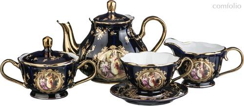 Чайный Сервиз На 6 Персон 15 Пр. Lefard Светское Общество Кобальт - Jinding