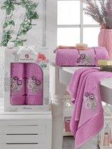 Комп. Пол. MERZUKA махр. в короб. (50x80/1)(70х130/1) 2 шт. ANEMONE, цвет лиловый - Meteor Textile