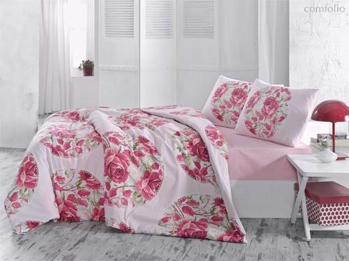 Постельное белье Ranforce Adrina, цвет красный, размер 1.5-спальный - Altinbasak Tekstil