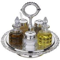 Набор из 5 предметов для приправ и масла 16,5см - Queen Anne