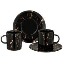 Чайный Набор На 2Пер. 4 Пр.Fantasy 220 мл, Черный - Towin Ceramics