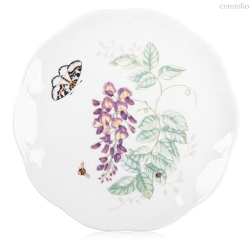 """Тарелка акцентная Lenox """"Бабочки на лугу"""" 23см, цвет сиреневый, 23 см - Lenox"""