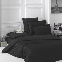 Постельное белье Karna Loft, однотонное, цвет черный, 2-спальный - Karna (Bilge Tekstil)