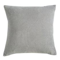 Подушка декоративная из хлопкового бархата серого цвета из коллекции Essential, 45х45 см - Tkano