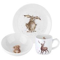 """Набор для завтрака Royal Worcester """"Забавная фауна"""" (тарелка 20см, салатник 15см, чашка 310мл), кост - Royal Worcester"""