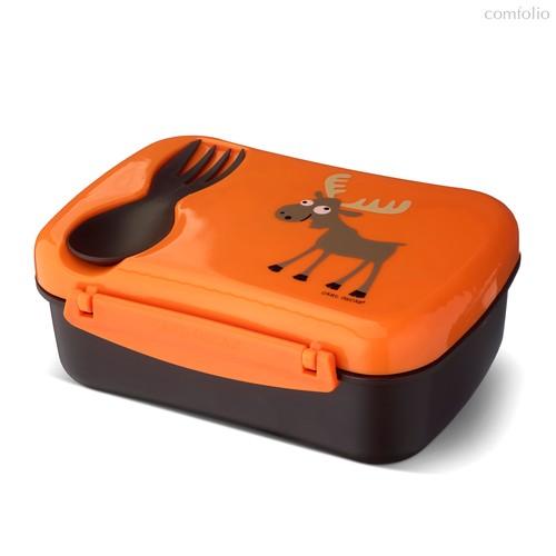 Ланч-бокс детский с охлаждающим элементом N'ice Box™ Moose оранжевый, цвет оранжевый - Carl Oscar