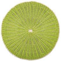 """Салфетка подстановочная круглая 38см """"Пальмовый лист"""", зеленый - Harman"""