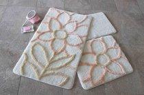 Коврик для ванной DO&CO (60Х100 см/50x60 см) NATUREL, цвет персиковый - Meteor Textile