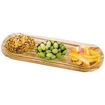 Набор Для Закусок 4 Пр. Блюдо 28x10,5 см , 3 Розетки, Диаметр 8 см - Dalian