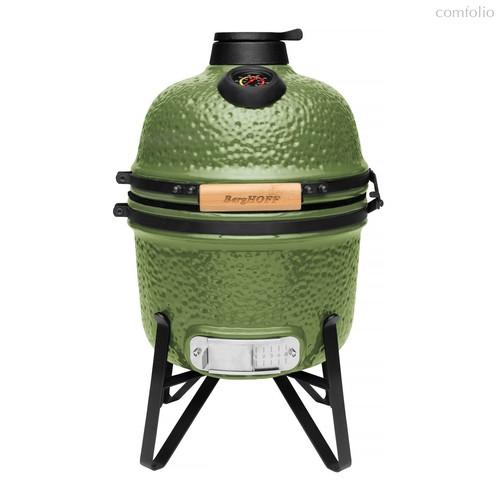 Компактный керамический уличный гриль, цвет зеленый - BergHOFF
