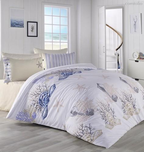 Постельное белье Ranforce Deniz Yildiz, подростковое, цвет бежевый, 1.5-спальный - Karna (Bilge Tekstil)