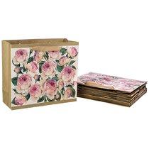 Комплект Бумажных Пакетов Из 10 Шт. Винтаж. Пионы 30x27x12 см - Vogue International
