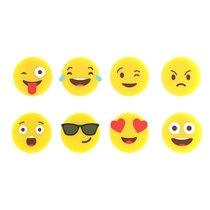 Маркеры для бокалов Emoji 8шт., цвет желтый - Balvi