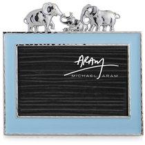 """Рамка для фото Michael Aram """"Слоники"""" 10х15см (голубая эмаль) - Michael Aram"""