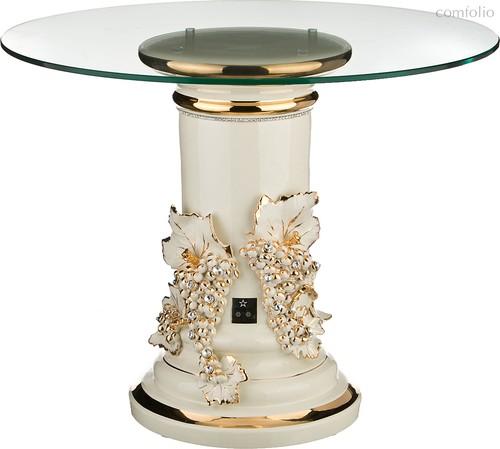 Столик Журнальный Гроздья Винограда Кремовый Диаметр 65 см. Высота 52 см. - Ceramiche Stella