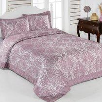 "Покрывало жаккард ""KARNA"" CORDENYA 250x270 (50x70+5)*2см, цвет розовый, 250x270 - Bilge Tekstil"