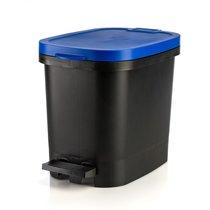 Мусорный бак с педалью BE-UTIL 10л, черный-синий, цвет синий/черный - Faplana