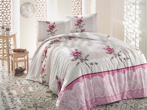Постельное белье Ranforce Almila, цвет бежевый, 1.5-спальный - Altinbasak Tekstil