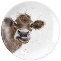 """Тарелка десертная Royal Worcester """"Забавная фауна"""",""""Корова"""" 16,5см, костяной фарфор - Royal Worcester"""