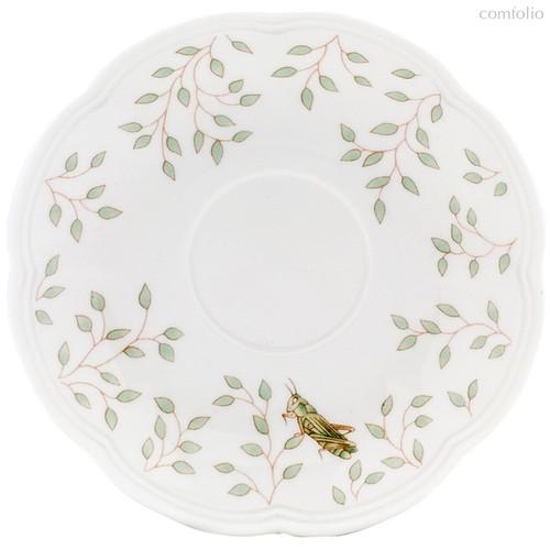 "Блюдце для чашки чайно-кофейной Lenox ""Бабочки на лугу"" 15см - Lenox"