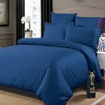 Постельное белье Karna Sansolid, сатин однотонный, цвет темно-синий, размер Евро - Karna (Bilge Tekstil)