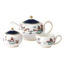 Набор из чайника, сахарницы и молочника Wedgwood Вандерласт Пагода - Wedgwood