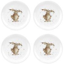 """Набор тарелок закусочных Royal Worcester """"Забавная фауна"""",""""Заяц"""" 20см, 4шт, костяной фарфор - Royal Worcester"""