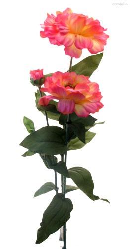 Циния темно-розовая 80 см живое прикосновение 12 шт.в упак. - Top Art Studio