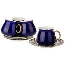 Чайный Набор На 4Пер. 8 пр. 220 мл , Кобальт, цвет темно-синий - Rongshengyuan