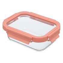 Контейнер для еды стеклянный 640 мл розовый - Smart Solutions
